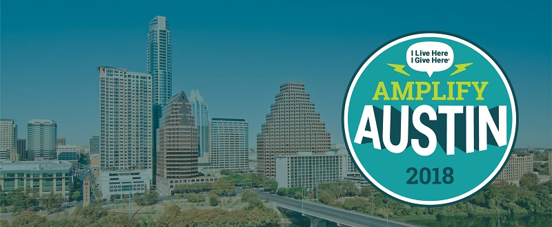 Amplify Austin banner with logo